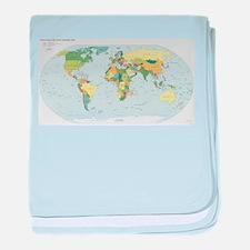 World Atlas baby blanket