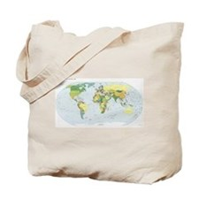 World Atlas Tote Bag