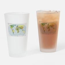 World Atlas Drinking Glass