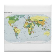 World Atlas Tile Coaster