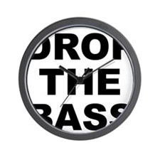 DROP THE BASS Wall Clock