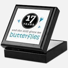 17 Year Anniversary Butterfly Keepsake Box