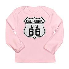 Long Sleeve California US 66 Infant T-Shirt