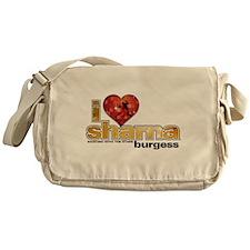 I Heart Sharna Burgess Canvas Messenger Bag