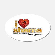 I Heart Sharna Burgess 38.5 x 24.5 Oval Wall Peel