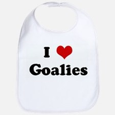 I Love Goalies Bib