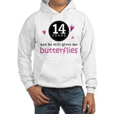 14th Anniversary Butterflies Jumper Hoody