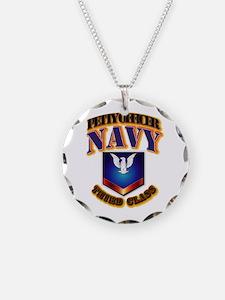 NAVY - PO3 Necklace
