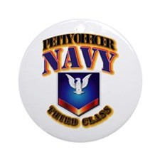 NAVY - PO3 Ornament (Round)