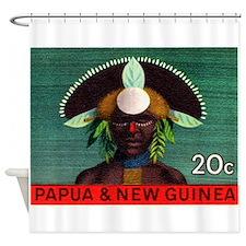 1968 Papua New Guinea Headress 20c Postage Stamp S