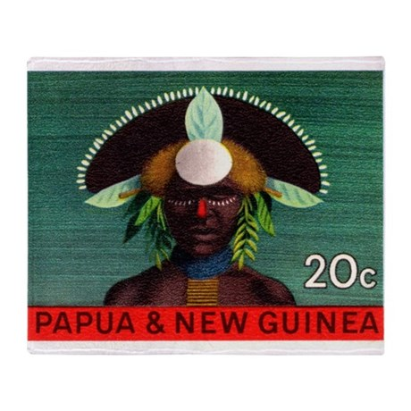 1968 Papua New Guinea Headress 20c Postage Stamp T
