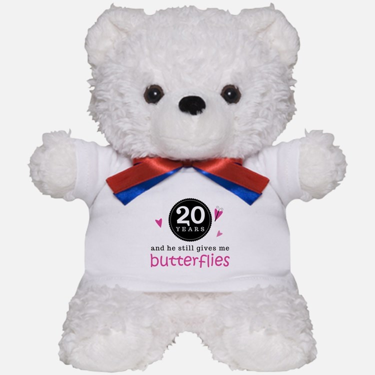 20th Anniversary Butterflies Teddy Bear