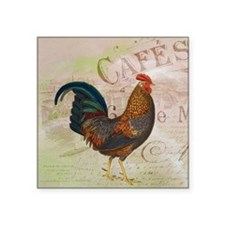 Cafe Rooster Sticker