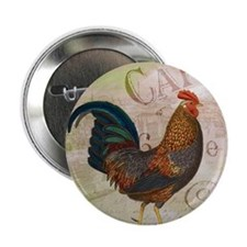 """Cafe Rooster 2.25"""" Button"""