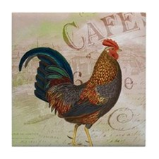 Cafe Rooster Tile Coaster