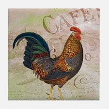 Cafe Rooster Tile Coaster