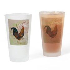 Cafe Rooster Drinking Glass