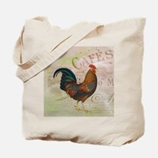 Cafe Rooster Tote Bag