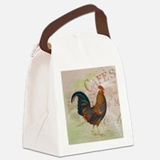 Cafe Rooster Canvas Lunch Bag