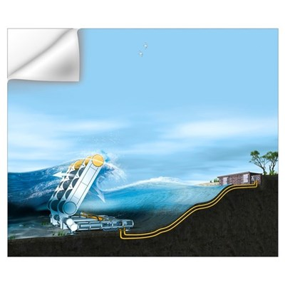 Wave energy converter, artwork Wall Decal