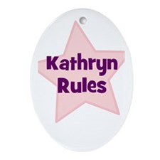 Kathryn Rules Oval Ornament