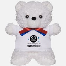 20 Year Anniversary Butterfly Teddy Bear
