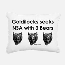 Goldilocks Seeks NSA with 3 Bears Rectangular Canv