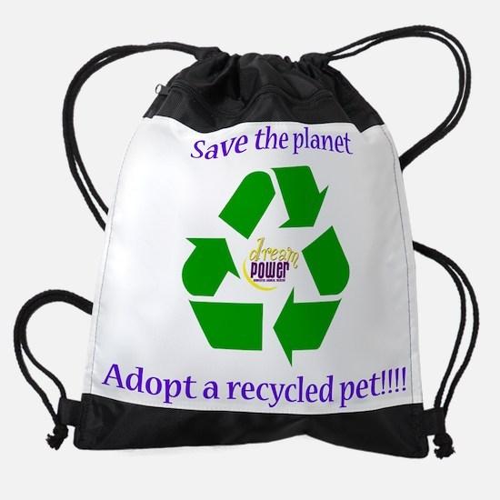 Recycle001.png Drawstring Bag