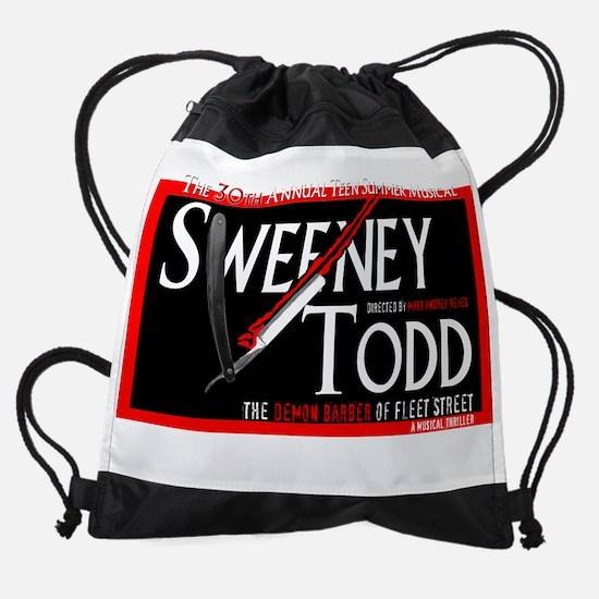 SweeneyTShirtDark.png Drawstring Bag