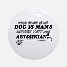 Abyssinian Cat Designs Ornament (Round)