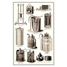 Early electrical equipment Poster