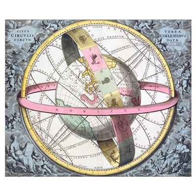 Earth's celestial circles, 1708 artwork Poster