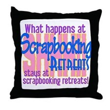 Cute Scrapping Throw Pillow