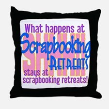 Cute Scrapbook Throw Pillow