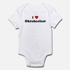 I Love Oktoberfest Infant Bodysuit