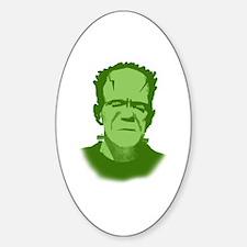 Frankenstein's Monster Oval Decal