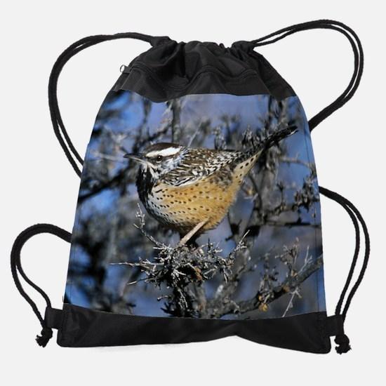 sep-north america cactus wren.jpg Drawstring Bag