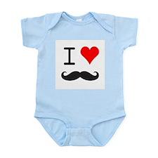 love mustache Body Suit