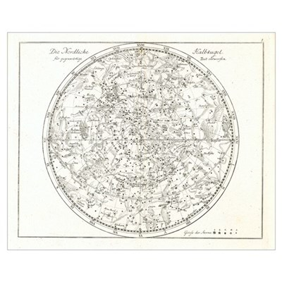 Star map, 1805 Poster
