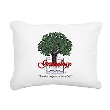 Family Legends Live On Rectangular Canvas Pillow