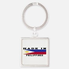Philippines Made In Square Keychain