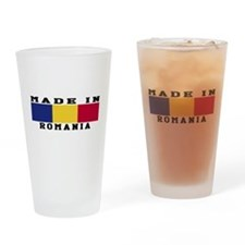 Romania Made In Drinking Glass