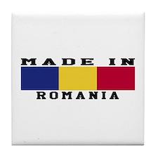 Romania Made In Tile Coaster