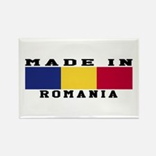 Romania Made In Rectangle Magnet