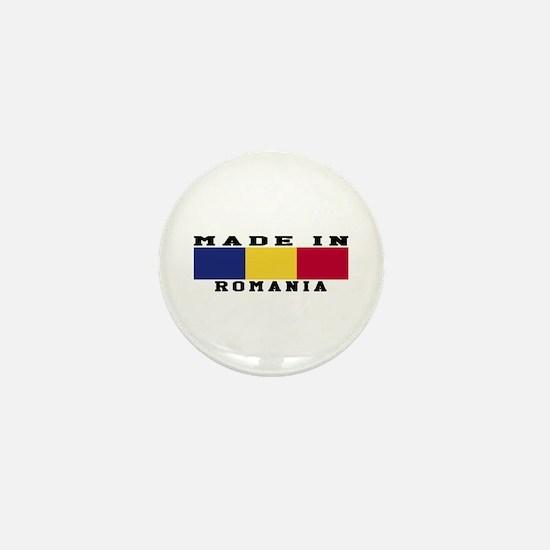 Romania Made In Mini Button