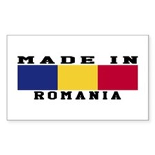 Romania Made In Decal
