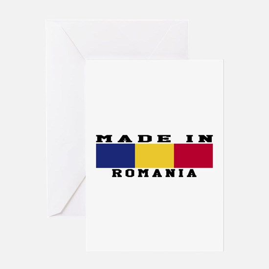 Romania Made In Greeting Card