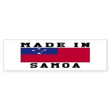 Samoa Made In Bumper Sticker