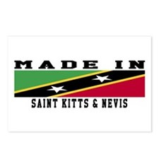 Saint Kitts Nevis Made In Postcards (Package of 8)