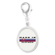 Slovakia Made In Silver Oval Charm